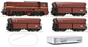 Digital starter set z21 diesel locomotive series 2200 of the NS with freight train