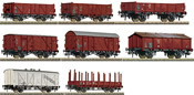 German 8 Piece Freight Car Set of the DB