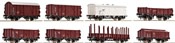 Austrian 8pc Goods Wagon Set of the OBB