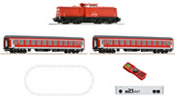 German Digital Starter Set with Diesel Locomotive Class 204 and Passenger Train of the DB-AG