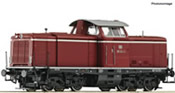 German Diesel locomotive class 211 of the DB (Sound)
