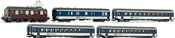 Set: Electric locomotive Ae4/4 of the BLS w/passenger train