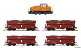 German Coal Mining Set: DHG500 Loco+4 Hopper Cars