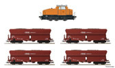 German Coal Mining Set: DHG500 Loco+4 Hopper Cars (AC)