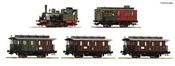 German Steam locomotive T3 and 3 passenger car Set of the KPEV