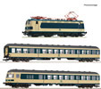 3 piece set: German The Karlsruhe train of the DB (DCC SOund Decoder)