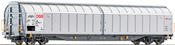 Sliding wall wagon 4 axle, DSB