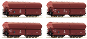 4 piece set: Self Unloading Hopper Wagons