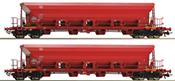 2 piece set: Self Unloading Hopper Wagons