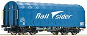 Sliding Tarpaulin Wagon, Rail Sider