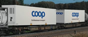 Articulated Double Pocket Wagon, AAE - COOP