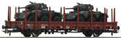 2-axle Stake Car w 2 xSaladin Tanks
