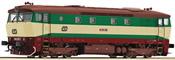 Diesel Locomotive 749 green, gray, brown