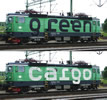 Swedish 2pc Electric Locomotive  Set Rc4, Green Cargo of the SJ