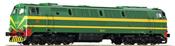 Spanish Diesel Locomotive 333 of the RENFE (Sound)