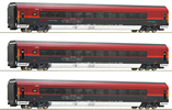 3 piece set Railjet, ÖBB
