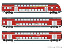 German Double deck car Set of the DB-AG