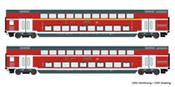2 piece set: Double-deck coaches