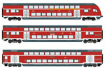 German Double Decker Set of the DB AG