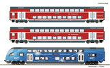 3 piece set: Double-deck coaches