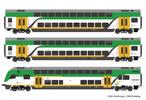 3 piece set: Double-deck coaches