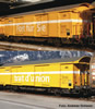 Swiss 2pc Postal Goods Wagon Z2 in yellow livery of the SBB. AC version