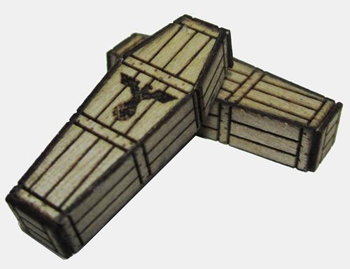 RSM 872004 - German Eagle Pine Coffins x5