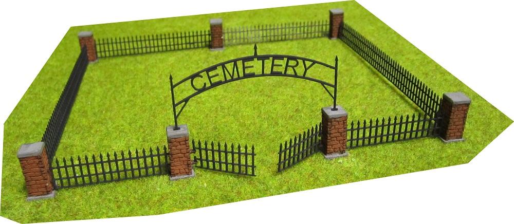 Rsm 871003 Rural Cemetery Lot W Movable Gates