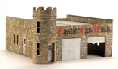 O Scale Laser Cut Castle Car Wash