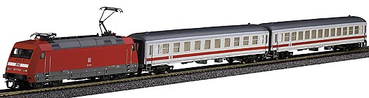 Tillig 01405 - Express coach set  w/bedding track