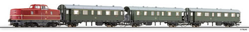 Tillig 01426 - Passenger train beginner set with advanced track oval and siding