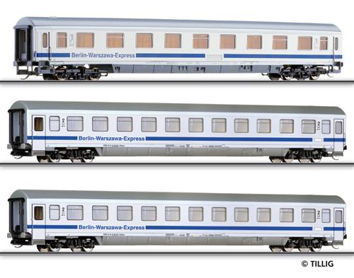 """Tillig 01601 - Passenger coach set Berlin-Warzawa-Express"""""""