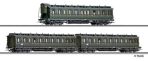 Tillig 01616 - Passenger Car Set of the DB