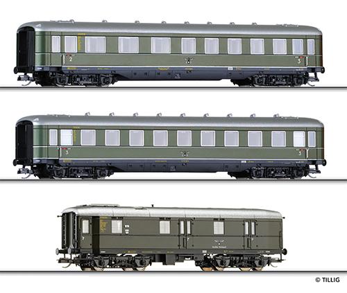 Tillig 01617 - Passenger Car Set of the DRG