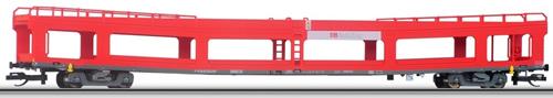 Tillig 01640 - 2pc Double-Deck Automobile Transport Car Set DDm 916 of the DB AG