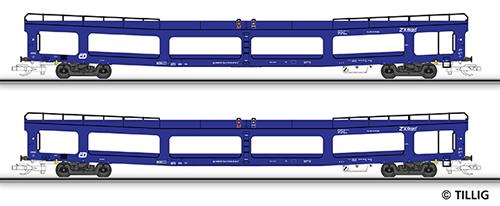 Tillig 01641 - Double-Deck Car Carrier Set DDm