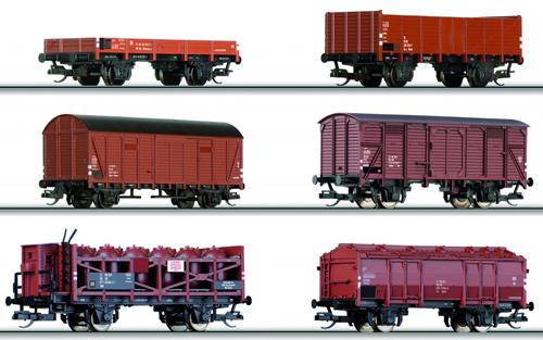 Tillig 01643 - 6pc Freight Car Set of the DR