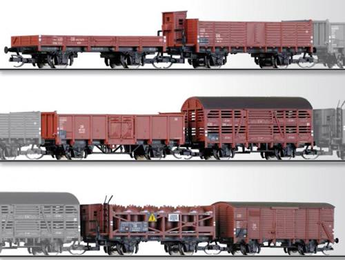 Tillig 01645 - 6pc Freight Car Set of the CSD