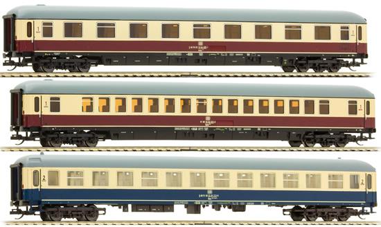 Tillig 01656 - 3pc TEE Passenger Coach Set of the DB AG