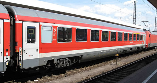 Tillig 01657 - 2pc Passenger Coach Set Munich-Nuremberg Express 2  of the DB AG