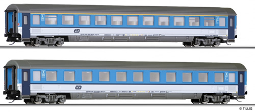 Tillig 01659 - 2pc Passenger Coach Set of the CD