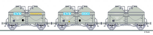 Tillig 01681 - 3pc Freight Car Set of the SNCF