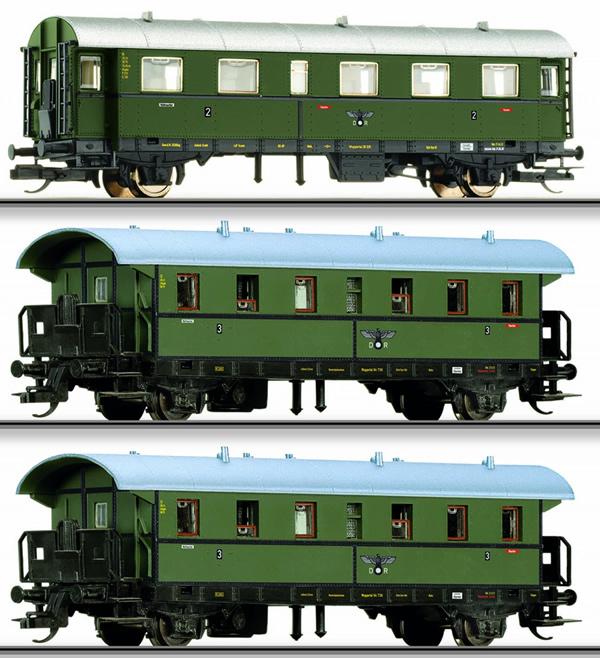 Tillig 01689 - German Passenger Coach Set of the DRG