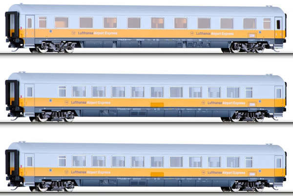 Tillig 01690 - 3pc Passenger Coach Set Airport Express 2 of the DB