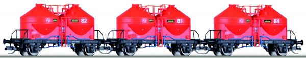 Tillig 01707 - Grain Wagon Set of the SNCF