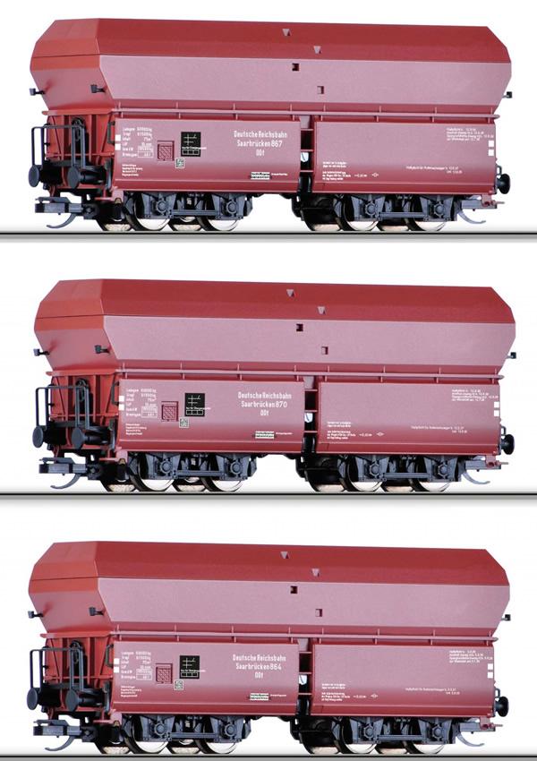 Tillig 01708 - 3pc Hopper Car Set Type OOt