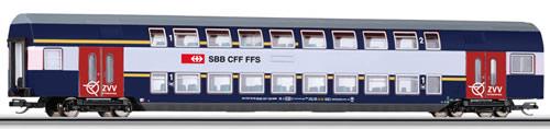 Tillig 13807 - 1st / 2nd Class Double-Deck Coach AB-HVZ of the SBB