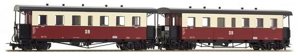 Tillig 13993 - 2pc German Passenger Coach Set of the DR