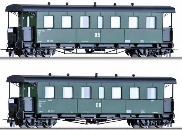Tillig 13994 - 2pc Passenger Car Set of the DR