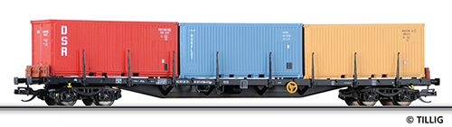 Tillig 15584 - Container Carrier Rgs 3910 of the DR